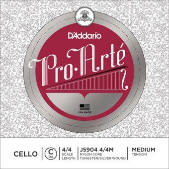D'Addario J5904-44M cellosnaar C-4 4/4
