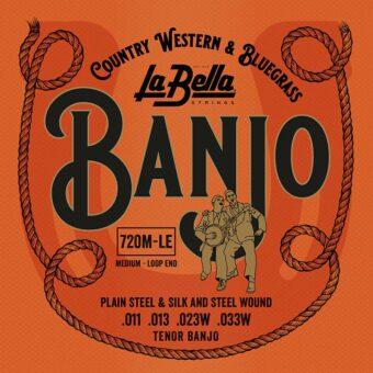 La Bella L-720M-LE snarenset tenor banjo