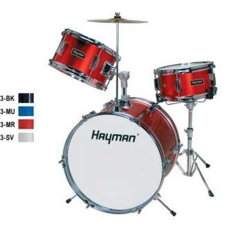 Hayman HM-33-BK 3-delig drumstel