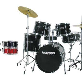 Hayman HM-325-BK 5-delig jazz drumstel