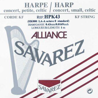 Savarez HPK-43 kleine of concert harp snaar plain KF