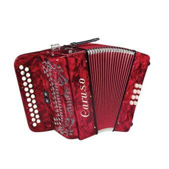 Caruso C-03BC-RD diatonische accordeon