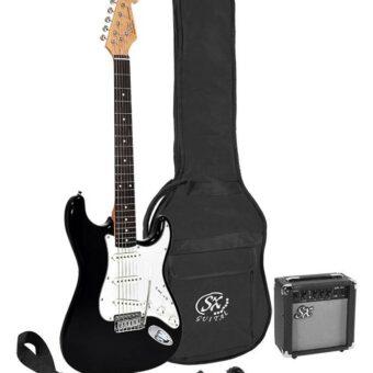 SX SE1SK-BK elektrisch gitaarpakket