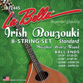 La Bella IB1244S snarenset Ierse bouzouki