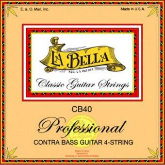 La Bella L-CB40-PE snarenset 4-snarige contrabasgitaar