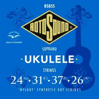 Rotosound RS85S snarenset sopraan ukelele 'Nylgut' synthetic gut
