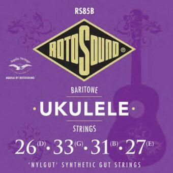 Rotosound RS85B snarenset bariton ukulele 'nylgut' synthetic gut