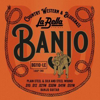 La Bella L-BG110-LE snarenset voor 6-snarige gitaar banjo
