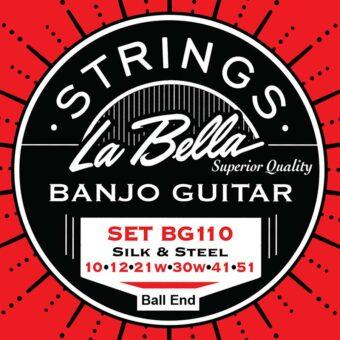 La Bella L-BG110-BE snarenset voor 6-snarige gitaar banjo