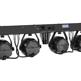 "GLX Lighting GLS-412 ""LED Stage 4 COMPACT"" LED light bar. 4×12 LEDs totaal 48W"